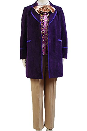 [Willy Wonka and the Chocolate Factory 1971 Costume Uniform] (Willy Wonka Costume)