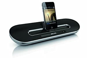 Philips DS7700/10 Portable Docking Speaker for iPad/iPhone/iPod with Bluetooth - Silver