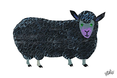 Marmont Hill Eric Carle's Brown Bear Black Sheep Canvas Wall Art, 18 by 12-Inch