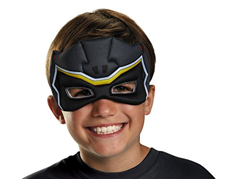Disguise Black Ranger Dino Charge Puffy Mask Costume