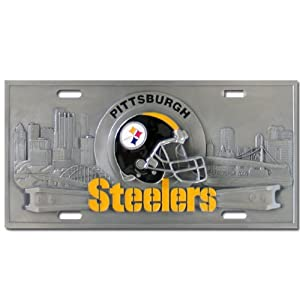 Pittsburgh Steelers NFL Collector's License Plate from Siskiyou Automotive