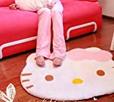 41 Jj I0rOL. SL160  Hello Kitty diecut face shape Area Rug 30 X 25 inches