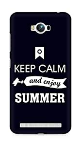 Amez Keey Calm and Enjoy Summer Back Cover For Asus Zenfone Max ZC550KL