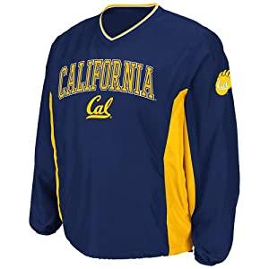 NCAA California Golden Bears Mens Slider Coaches Long Sleeve Pullover Jacket, Navy by Colosseum