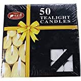 Brown Village T-Light Candle (White, Pack Of 50)
