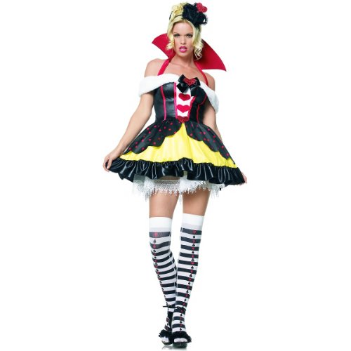 Queen Of Hearts Costume - X-Small - Dress Size 0-2