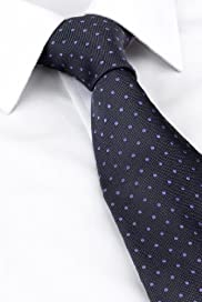 Ultimate Performance Pure Silk Textured Spot Woven Tie [T12-7946-S]