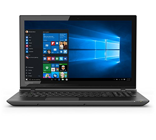 Toshiba Satellite C55T-C5239 TOUCHSCREEN Laptop: Quad-Core N3700 750GB 4GB DVD-RW Bluetooth WiDi Webcam Windows 10 - BRUSHED BLACK