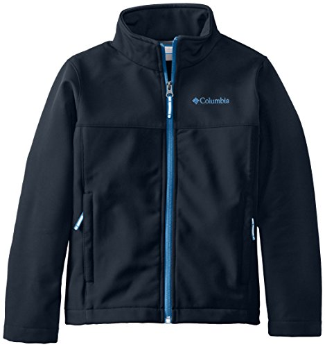 Columbia Big Boys' Ascender Softshell, Collegiate Navy/Hyper Blue, X-Large front-1060334