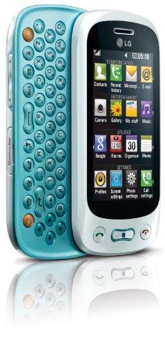 LG GT350 Town Handy (7.6 cm (3 Zoll) Display, Touchscreen, 2 Megapixel Kamera) Glossy weiß/blau