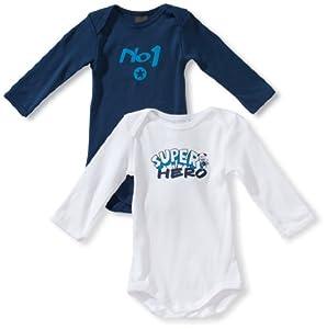 Schiesser - Body de manga larga para bebé, pack de 2