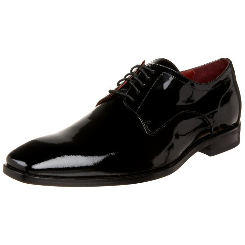 Boss Black By Hugo Boss Men'S Recco Lux Patent Formal Lace Up,Black,7.5 M Us