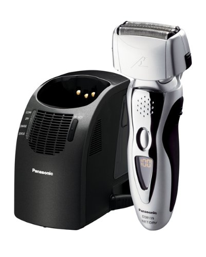 compare cheap prices Panasonic ES8109S Men's 3-Blade (Arc 3) Wet/Dry Nanotech Rechargeable Electric Shaver with Vortex Cleaning System, Silver