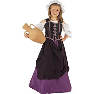 Fancy Dress - Medieval Wench Maid Costume - Girls - 11/13 Jahre