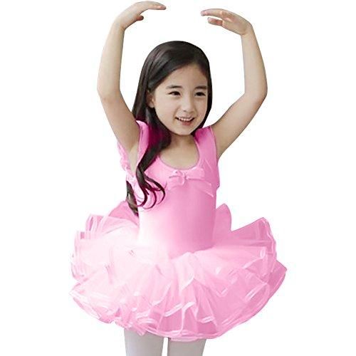 Little Girls' Short Sleeve Tiered Tutu Ballet