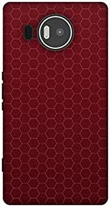 The Racoon Lean RED HONEYCOMB PATTERN hard plastic printed back case / cover for Microsoft Lumia 950 XL
