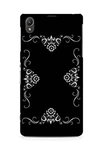 Amez designer printed 3d premium high quality back case cover for Sony Xperia Z1 C6902 (Abstract Dark 33)