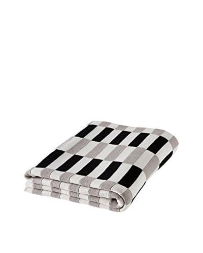 Torre & Tagus Block Weave Jacquard Throw, Black/White