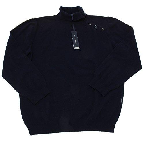7524N maglione uomo DANIELE ALESSANDRINI lana blu dolcevita sweater man [54]