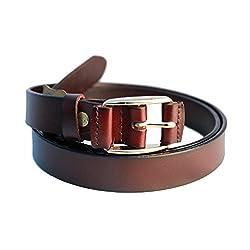 Lion Heart Women, Girls Casual Maroon Genuine Leather Belt