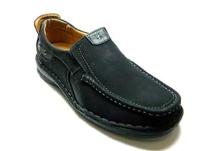 Mens Black Casual Comfort Slip On Loafer Shoes