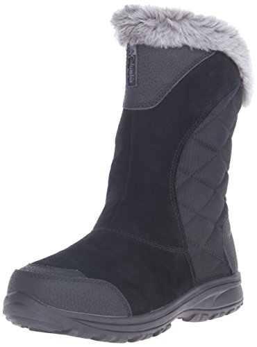 Columbia Women's Ice Maiden II Slip Winter Boot,Black/Shale,8 M US (Columbia Shoes Women Winter compare prices)