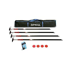 ZipWall ZipPole ZP4 Low Cost Spring Loaded Pole Kit with Carry Bag