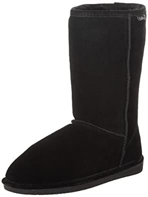 "BEARPAW Women's Emma 10"" Shearling Boot,Black,5 M US"