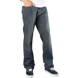 Fox Racing Throttle Jeans 34L Men's Denim Sports Wear Pants - Dirty Rinse / Size 38/34