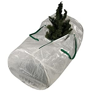 Household Essentials Christmas Tree Storage Bag with Green Trim