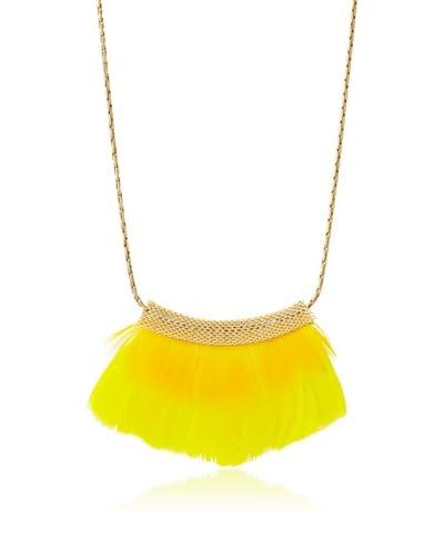 Serefina Tweety Mesh Feather Bib Necklace