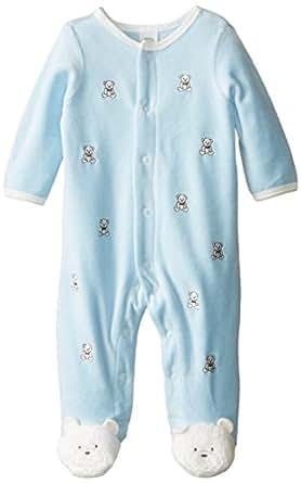 Amazon Little Me Baby Boys Bear Schiffli Velour