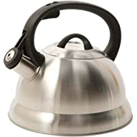 Mr. Coffee Flintshire Stainless Steel 1.75-Quart Whistling Tea Kettle (Silver)