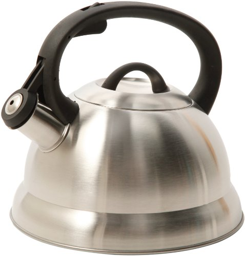 Mr. Coffee Flintshire Stainless Steel Whistling Tea Kettle, 1.75-Quart (Tea Kettles compare prices)