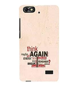 EPICCASE Think again Art Mobile Back Case Cover For Xiaomi Redmi Mi4c (Designer Case)