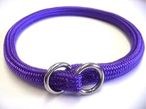 Hamilton 3/16 Inch x 14 Inch Round Braided Choke Nylon Dog Collar, Purple (825 PU)