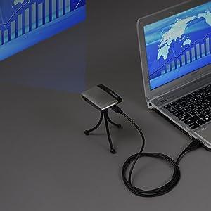 サンワダイレクト 小型USBモバイルプロジェクター 400-PRJ010