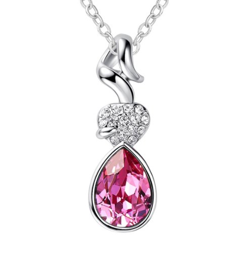 Boxingcat Fine Jewelry Swarovski Style Clear Austrian Crystal Pendant Necklaces Bgca4932 front-817028