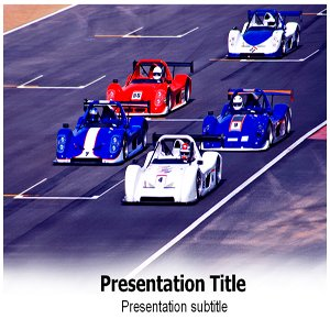 Auto Racing PowerPoint Template - Auto Racing
