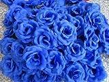 [Neustadt] 結婚式 2次会 パーティー お祝い 手作りに バラの 造花 8センチ(花のみ)50コ ブルー