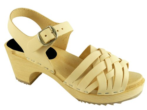 Swedish Clogs : Braided Clogs In Natural Leather UK 5 EUR 38
