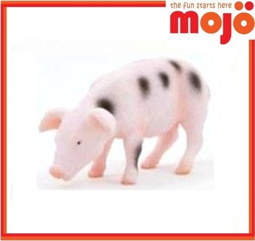 Mojo Fun Black Spotted Gloucester Piglet Rooting / Feeding