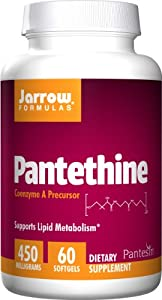Jarrow Formulas Pantethine, 450mg, 60 Softgels