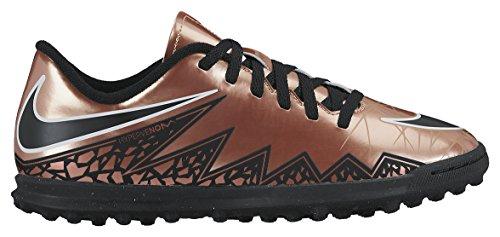 Nike JR Hypervenom Phade II TF, Scarpe da calcio bambine Multicolore Marrón / Negro / Blanco (Mtlc Rd Brnz / Blk-Grn Glw-White-) 38