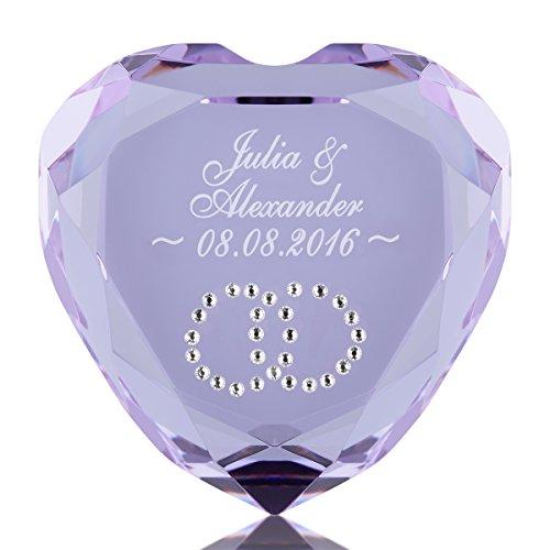 herz diamant mit gravur romantisches geschenk freund. Black Bedroom Furniture Sets. Home Design Ideas