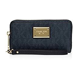 Michael Michael Kors Jet Set Travel Large Coin Multifunction Wallet (Baltic Blue )