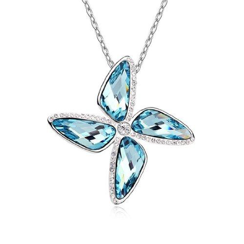 Boxingcat Fine Jewelry Swarovski Style Clear Austrian Crystal Pendant Necklaces Bgca10072 front-950752