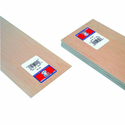 Midwest Products 6403 Micro-Cut Quality Balsa 36-Inch Sheet Bundle, 0.09375 X 4 Inches