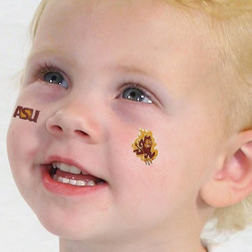 ARIZONA STATE FACE TATTOOS-ARIZONA STATE SUN DEVILS TATTOOS-4 PACK