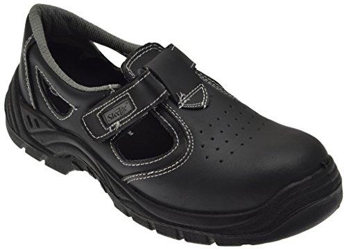 Portwest FW01BKR43 S1 - Sandali di sicurezza Steelite, misura 43, colore: Nero